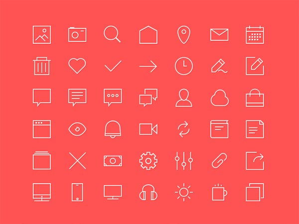 42 Line Icon Set