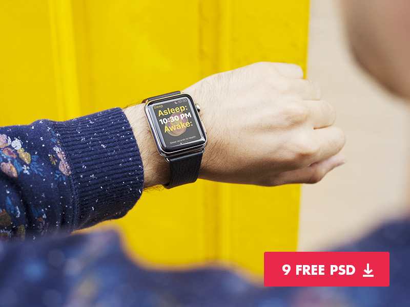 9 Free Apple Watch Mockups