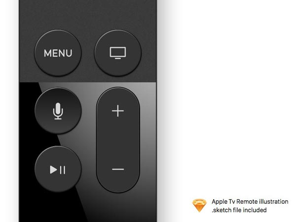 Apple TV Remote - Sketch Freebie