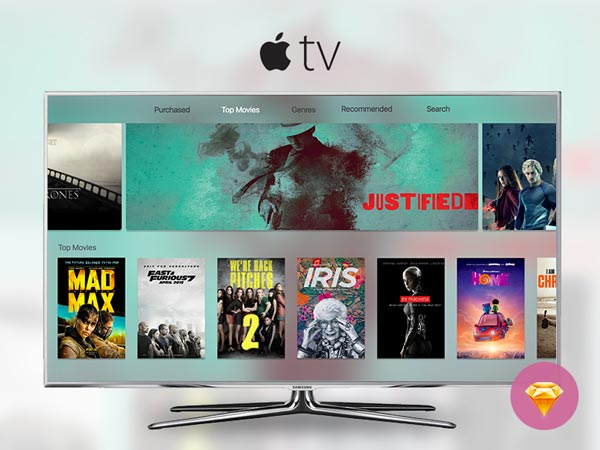 Apple TV - Sketch Freebie