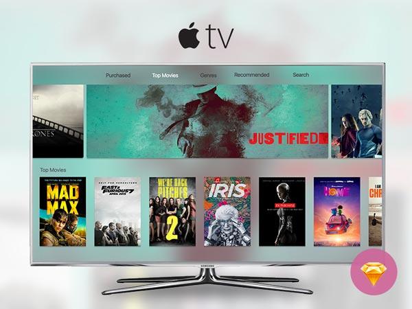 Apple TV - Sketch Freebie