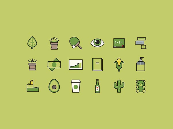 Avocado - Icon Set