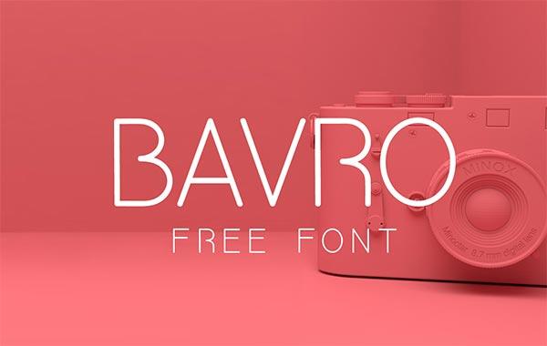 BAVRO - Free Font
