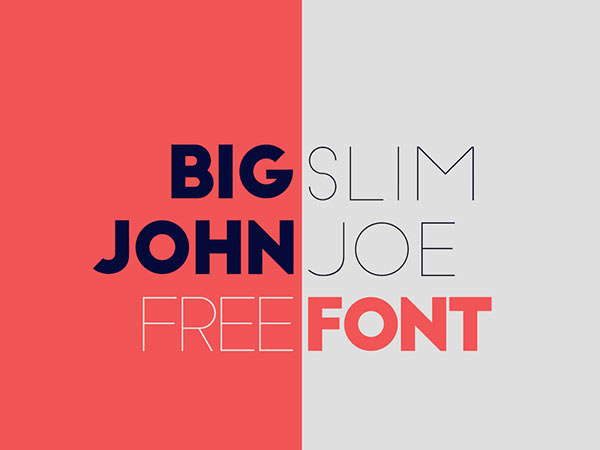 Big John / Slim Joe - Free Font