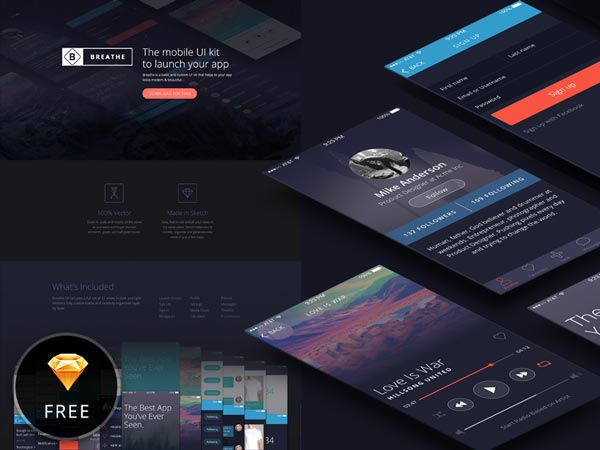 Breathe - Mobile UI Kit