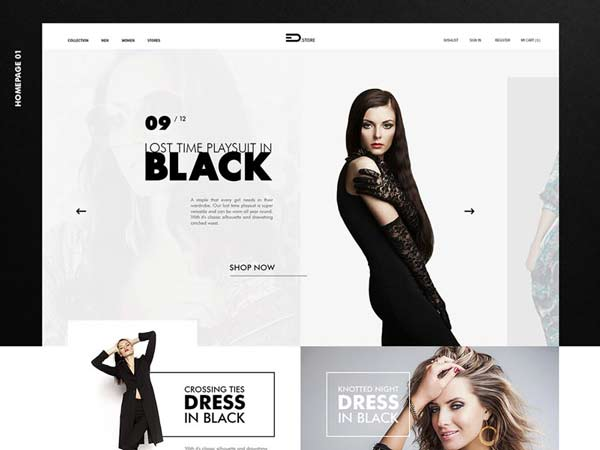 Fashion Store - Free PSD