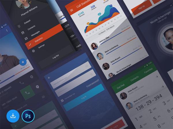 Free UI Kit for Stars