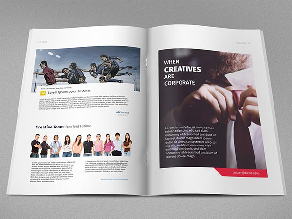 Magazine Template - Illustrator Freebie
