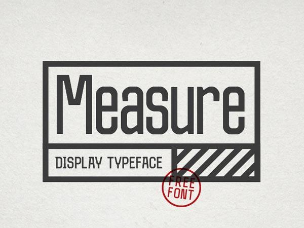 Measure - Free Font