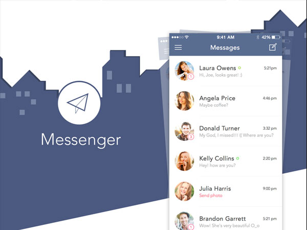 Messenger App Design - Sketch Freebie
