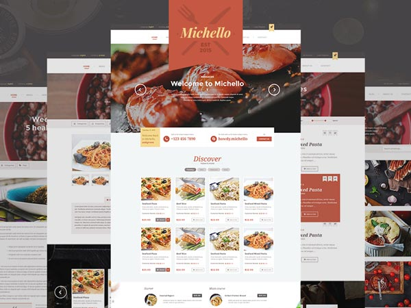Michello - Restaurant Website Template