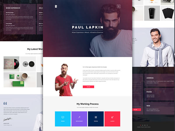 Personal Site - Free PSD