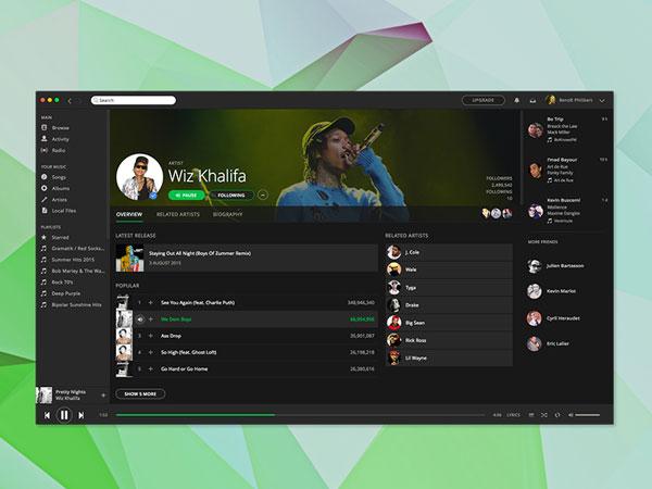 Spotify App Design
