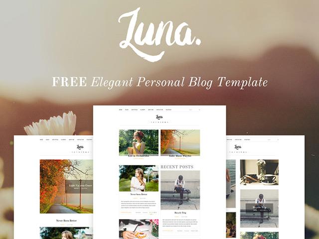 luna-psd-blog-template