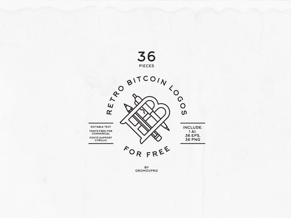 36 Retro Bitcoin Logos