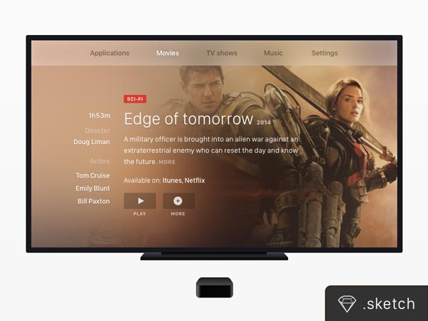 Apple TV & TV Screen Mockup