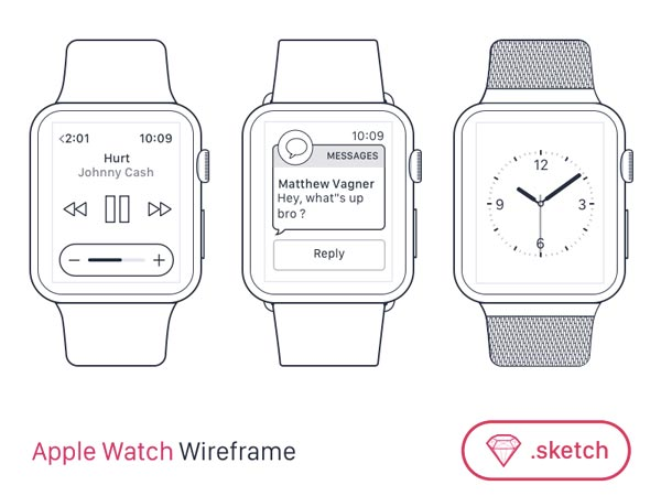 Apple Watch Wireframes