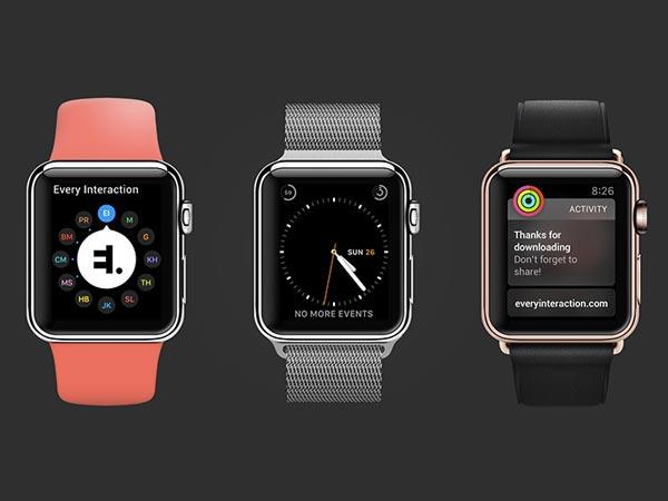 Apple Watch - Vector Mockup PSD