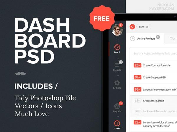 Dashboard PSD Freebie