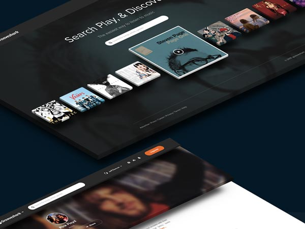 Grooveshark Redesign Concept - Free PSD