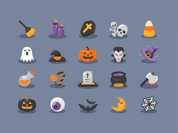 Halloween Icons - Free Ai
