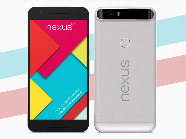 Nexus 6P - Front/Back Views Mockup