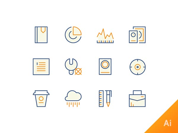 Random Icons - Illustrator Freebie