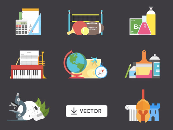 School Illustrations - Free Vector