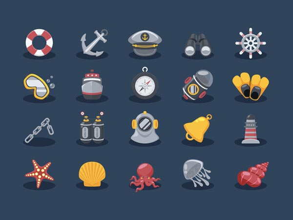 Sea Elements - Icon Set