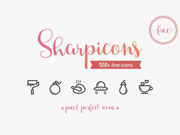 Sharpicons - 120+ Line Icons