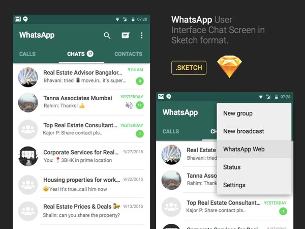 WhatsApp Chat UI Design