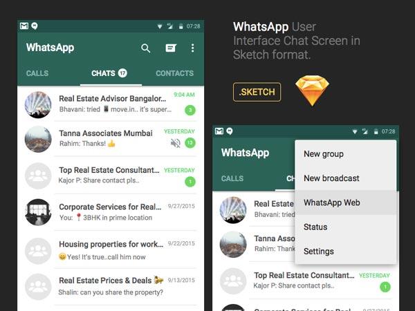 WhatsApp Chat UI Design