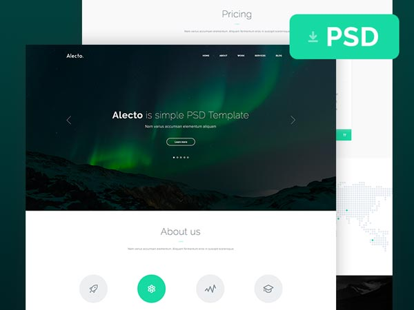 Alecto - Website PSD Template