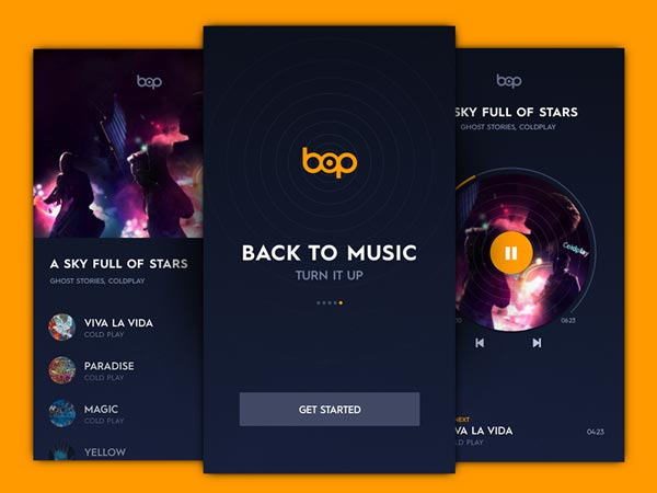 Bop Music App - Sketch Freebie