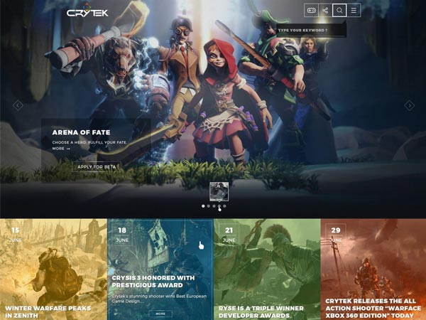 Crytek Redesign - Website Template