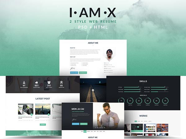 I AM X Portfolio Website Template