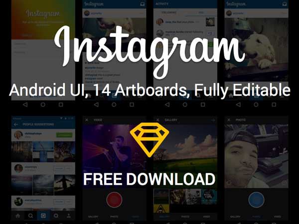 Instagram - Android UI Kit