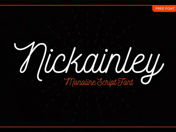 Nickainley - Free Font