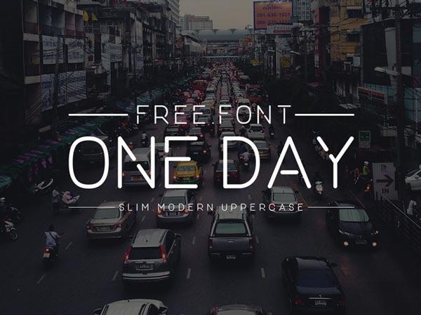 OneDay - Free Font