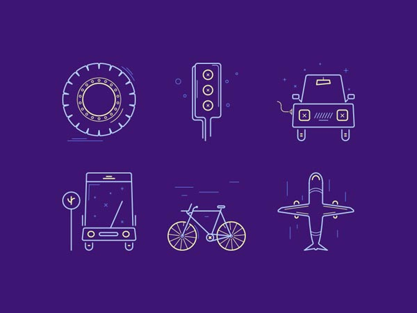 Transportation Icons - Freebie