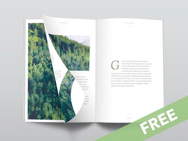 Ultra Clean Magazine Mockup - Free PSD