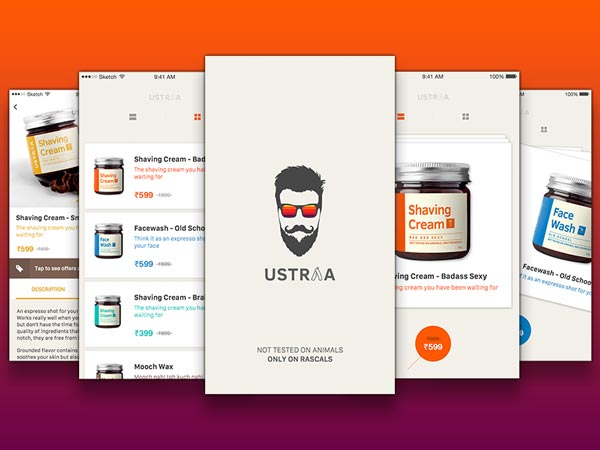 Ustraa App - Sketch Freebie