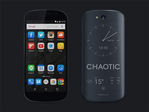 Yotaphone 2 Black - PSD Mockup