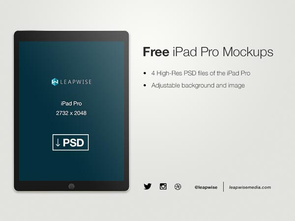 iPad Pro PSD Mockups