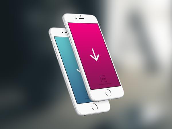 iPhone Template - PSD Mockup