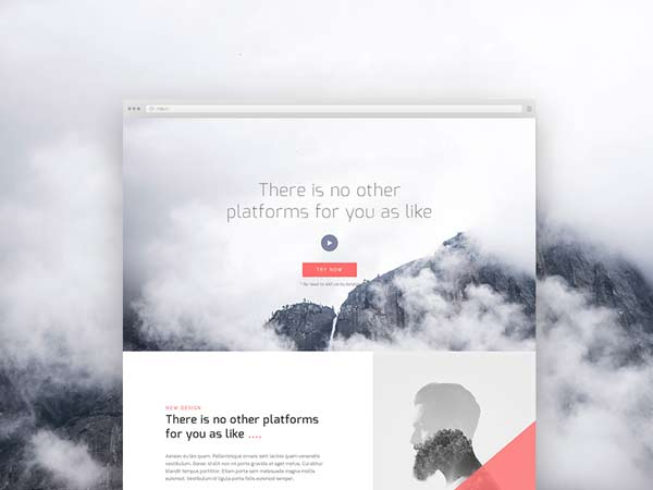 Corporate Landing Page - Free PSD