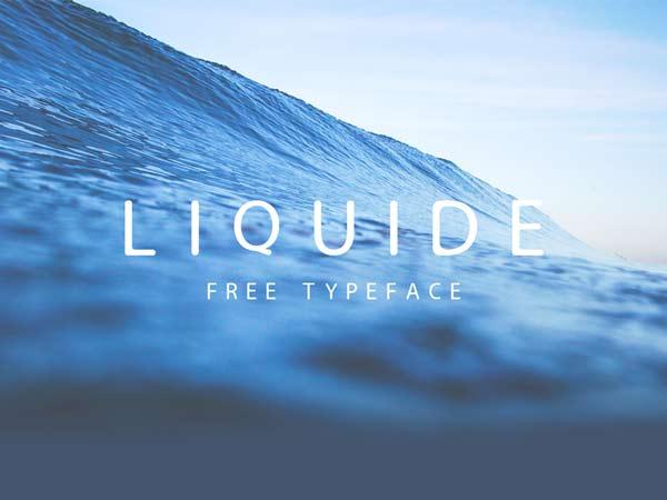 LIQUIDE - Free Font