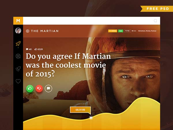 Movie Poll Concept - Free PSD