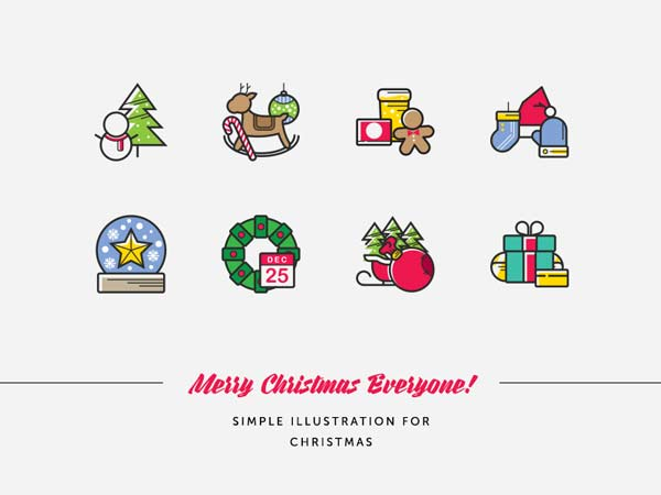 Simple Free Christmas Illustrations
