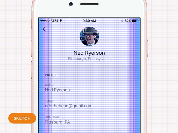 iOS Grid System for Sketch